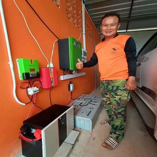 200 Sets Solar Lithium Battery System installed in Bangkok